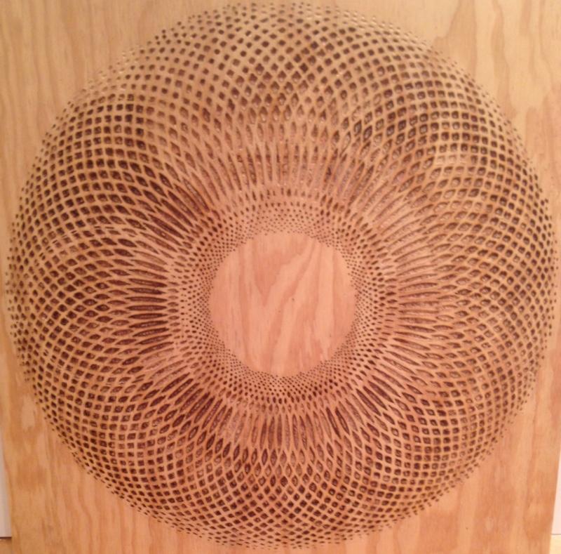 """Lanteen Avrinier"" 24""x 25'', Carved Plywood, Birch & Douglas Fir, 2014"
